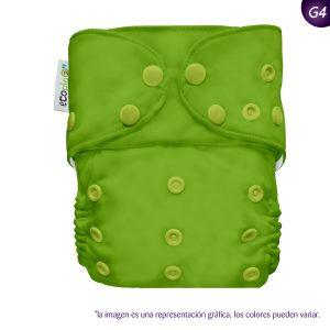 Pañal G4 Liso Broches Verde primavera)